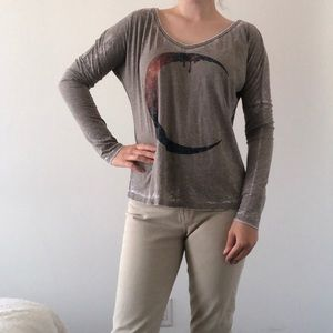 NWT Signorelli Moon Tee graphic witch print top L